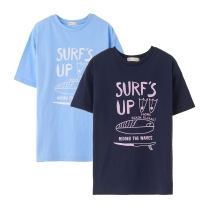 K1804NT37 서핑 레터링 티셔츠