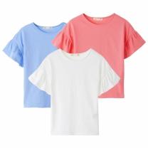 K1803NT17 셔링 반소매 티셔츠