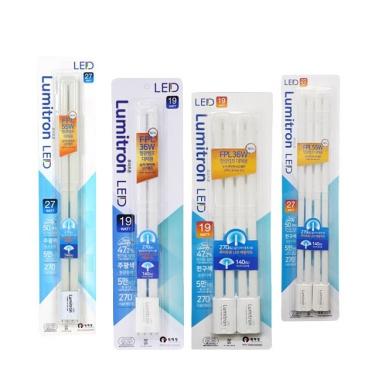 루미트론 2관 LED 간단시공(전구색/주광색)