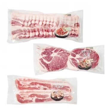 캠핑 필수템! 돼지고기 삼겹살/목심/항정살