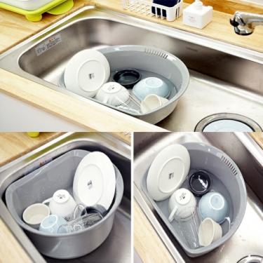 깔끔한 주방필수템<br>주방 설거지통