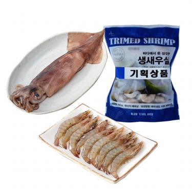 맛이 일품! <br>오징어/새우