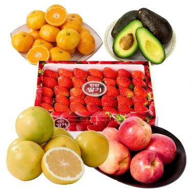 맛있는 과일<br> 딸기/사과/감귤