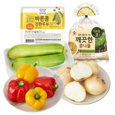 신선한 채소<br> 콩나물/애호박/두부