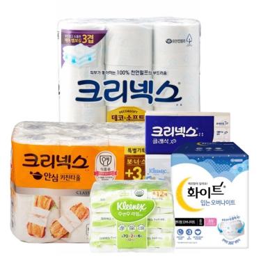 유한킴벌리 화장지/위생용품 모음