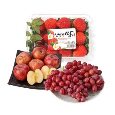 맛있는 과일이<BR>문앞까지!<br>딸기/사과/포도