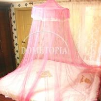 레이스 캐노피 모기장(핑크) (하단둘레:1200cm)