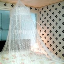 꽃무늬 캐노피 모기장(화이트) (하단둘레:1200cm)
