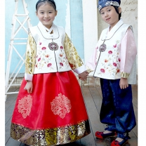 [초특가][여아한복] 누비배자(남아,여아공용)