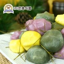 [안흥식품] 금바위 감자송편 3종 (호박+자색고구마+쑥) / 각 600g x 3팩 /총1.8kg /