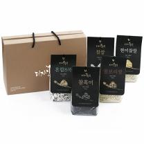 [전북전주]디자인농부 잡곡 5종세트(찰흑미,찰보리쌀,현미찹쌀,찹쌀,혼합8곡)
