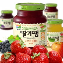 청정원 쨈 280g(딸기쨈/포도쨈/사과쨈/후루츠쨈)중 택1x2개