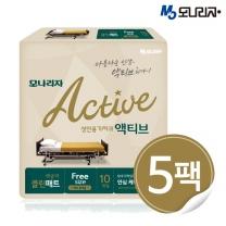 모나리자 액티브 성인용 기저귀 레귤러 클린매트 10매 Free Sise 5팩