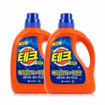 [엘지생활건강]테크 천연베이킹소다+구연산 액체세제 3LX2입(일반)