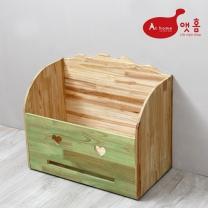 앳홈 스마일 원목 대형 이동식 정리함 / 청소기 보관함