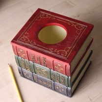 3단 책 디자인 소품 보관함 GTH0347