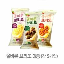[풀무원] 올바른브리또 3종 (치즈고구마 5개, 칠리치킨 5개, 비프할라피뇨 5개) 택1