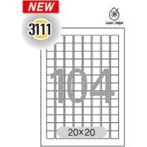 분류표기용라벨(LS-3111/100매/한국폼텍)