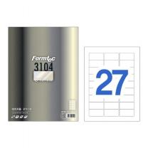 [122556]레이져 광택라벨(LB-3104/100매/27칸/폼텍)