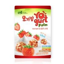 프로엠 요거팜 무농약 쌀로 만든 딸기 스낵 30g