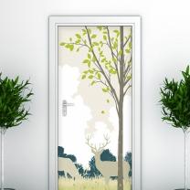 [오엔디자인_현관문 시트지] 비밀의숲 - secret forest/패브릭소재/욕실인테리어아
