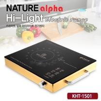 키친아트 하이라이트 전기렌지 KHT-1501(골드) 전자렌지/전기렌지