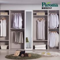 [파로마] 화이트 엔틱 아파트 드레스룸 (탤런트-400거울장)