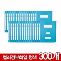 [126247]컬러정부화일(300개/BOX/청색/OfficeDEPOT)
