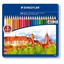 Noris 틴케이스 색연필(24색/STAEDTLER)