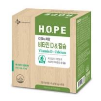 [CJ직배송]HOPE 비타민D&칼슘(750mg X60TAB)