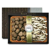 [참마을]흑화고&표고버섯채 혼합 선물세트 1호 / 흑화고 250g + 표고버섯채 250g