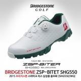 브리지스톤 스파이크 리스 바이타 SHG550 남성용 골프화[WG(화이트+그린)]