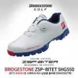 브리지스톤 스파이크 리스 바이타 SHG550 남성용 골프화[TR(화이트+블루+레드]