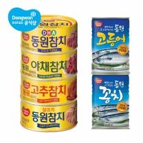 [동원] 참치4종택1 100g 10캔+꽁치400gx2캔or고등어400gx2캔