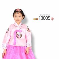 [예화-좋은아이들] 名品 여아 아동한복 깃수당의핑크_ 13005 (당의 + 원피스형치마)