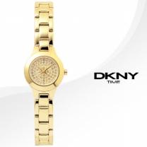 [正品][DKNY] NY8692 도나카란뉴욕 정품 큐빅다이얼+골드 뱅글 메탈 밴드 시계