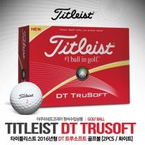 타이틀리스트 2016 DT TRUSOFT (트루소프트) 골프볼 [2피스/12알] [화이트]