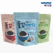 [바다원]김자반3종세트(돌김자반+매콤김자반+녹차김자반)