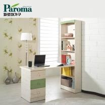 [파로마]유코스 시그널 내츄럴 서재 컴퓨터 독서실 h형 1200 책상 세트