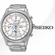 [SEIKO] 세이코 정품 SPC123J 크로노그라프 실버 메탈밴드 퍼펙츄얼 캘린더