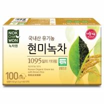 [녹차원]국내산유기농현미녹차 100티백(유기농 100%)