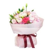 핑크로맨스 꽃다발