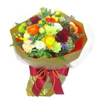 버건디와인 꽃다발