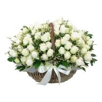 로맨틱화이트 꽃바구니