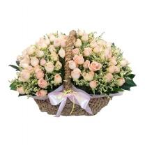 로맨틱핑크 꽃바구니