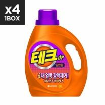 [엘지생활건강] 테크 실내건조냄새걱정끝액체일반용기3LX4입