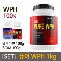 [SET] 보령 퓨어 WPH 1kg + 글루타민 100g + BCAA 100g