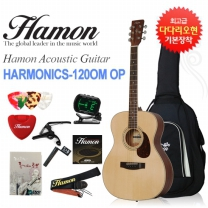[글로벌뮤직]하몬 통기타 Harmonics-120 OM OP (하몬기타/무광/OM바디)