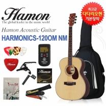 [글로벌뮤직]하몬 통기타 Harmonics-120 OM NM (하몬기타/반무광/OM바디)