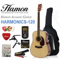 [글로벌뮤직]하몬 통기타 Harmonics-120 NA (하몬기타/유광/D바디)
